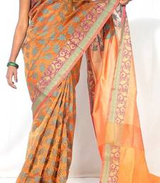 Buy Organza silk Fancy banarasi saree organza-saree online