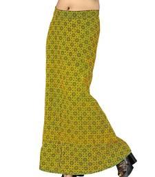 Buy Ethnic Bottle Green Cotton Wrap Around Skirt skirt online
