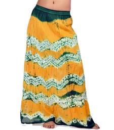 Buy Fashionable n Ethnic Bandhej Cotton Long Skirt skirt online