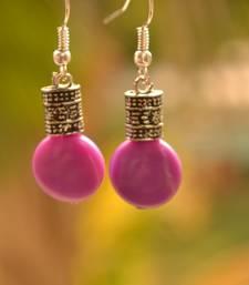 Purple metallic danglers drops