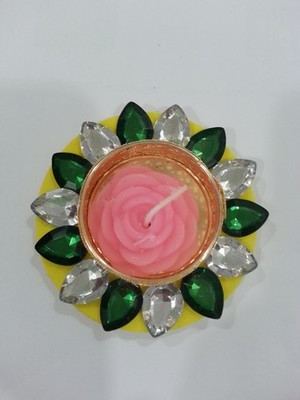 cf1289a6d Decorated Florescent Floating Kundan Diya - Harsh Creation - 1791056