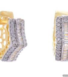 Buy AD STONE STUDDED UNIQUE EARRINGS/HANGINGS(AD) - PCFE3321 hoop online