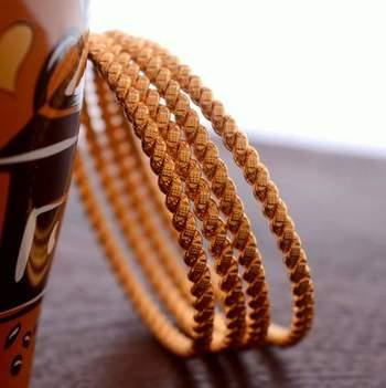 Golden bangles #142