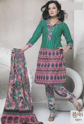 Dress Material Cotton Designer Prints Unstitched Salwar Kameez Suit D.No 10011