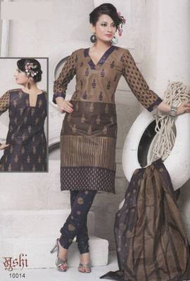 Dress Material Cotton Designer Prints Unstitched Salwar Kameez Suit D.No 10014
