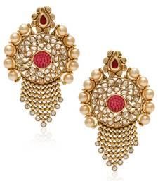 Buy Multicolor pearl earrings danglers-drop online