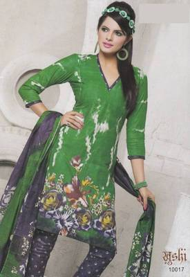 Dress Material Cotton Designer Prints Unstitched Salwar Kameez Suit D.No 10017