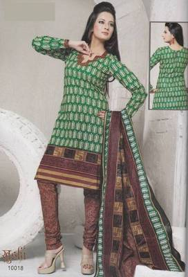 Dress Material Cotton Designer Prints Unstitched Salwar Kameez Suit D.No 10018