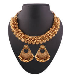 Buy Gorgeous abundant Gold plated antique set necklace-set online