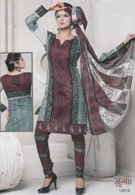 Dress Material Cotton Designer Prints Unstitched Salwar Kameez Suit D.No 10019