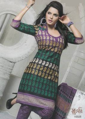 Dress Material Cotton Designer Prints Unstitched Salwar Kameez Suit D.No 10025