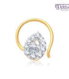 Buy Sukkhi Lavish Gold and Rhodium Plated CZ Nose Pin(36003NPCZK200) nose-ring online