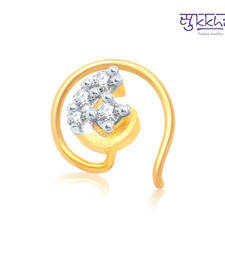 Buy Sukkhi Traditional Gold and Rhodium Plated CZ Nose Pin(36006NPCZK200) nose-ring online