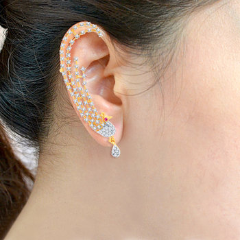 Sukkhi Sublime Gold and Rhodium Plated Cubic Zirconia Stone Studded Ear cuff(38008ECCZK2450)