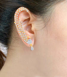 Sukkhi Sublime Gold and Rhodium Plated Cubic Zirconia Stone Studded Ear cuff(38008ECCZK2450) ear-cuff