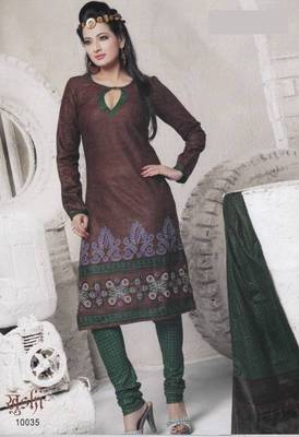 Dress Material Cotton Designer Prints Unstitched Salwar Kameez Suit D.No 10035