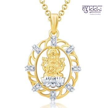 Sukkhi Glorious Gold and Rhodium Plated Cubic Zirconia Stone Studded God Pendant(34014GPCZK600)