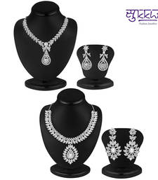 Buy Sukkhi Resplendent 2 Piece Necklace Set Combo(202CB3400) jewellery-combo online