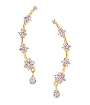 Gold Diamond Ear Cuffs