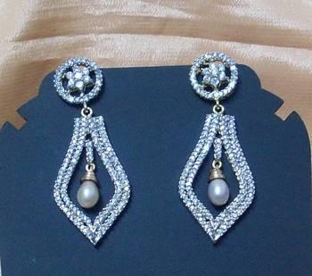 Pearl Drop CZ Earring