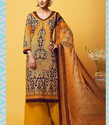 Buy Multicolor printed cotton semi stitched salwar with dupatta multicolor-salwar-kameez online