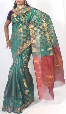 Georgette Banarasi Zari Work Saree