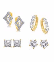 Buy Gold semi precious combo earrings combo-earring online