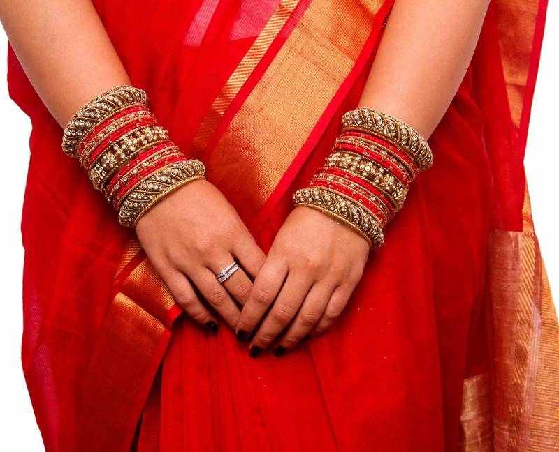 Buy Traditional Red Silk Thread Bangle Set For Two Hands