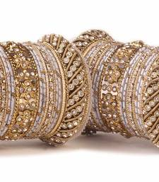 Buy Traditional silver silk thread bangle set  for two hands bangles-and-bracelet online