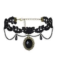 Buy Black pearl necklaces collar-necklace online
