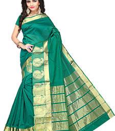 Buy Green woven manipuri silk saree with blouse manipuri-silk-saree online
