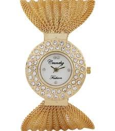 Buy Crunchy Fashion Exclusive Golden Platted Watch watch online