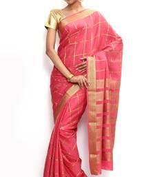 Buy Sudarshan silks Wonderful Pure Mysore silk saree-Pink-SSSB120-VQ-Crepe mysore-silk-saree online