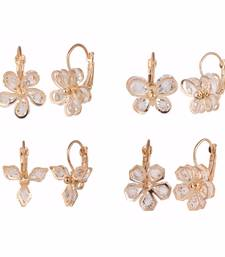 Buy Combo of four trendy earrings for girls and women combo-earring online