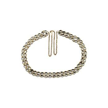 kundan Stud-Gold Platted Brass  Waist Belt