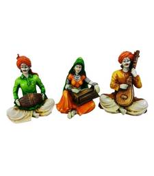 Buy Rajasthani Musical Troupe Show Piece sculpture online