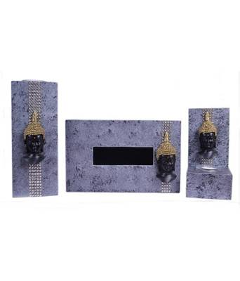 Candle Holder with Tissue Box Holder (Set of 3)