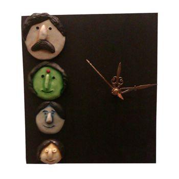 Family Mask Wall Clock