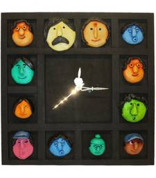 Buy Family Mask Wall Clock Hanging new-year-gift online