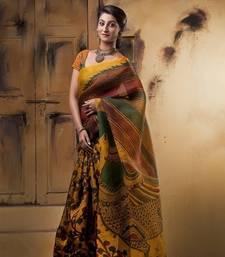 Buy Aavaranaa YellowOrganza silk sarees organza-saree online