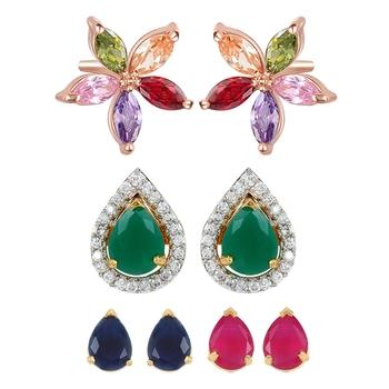 Multicolor cubic zirconia jewellery-combo