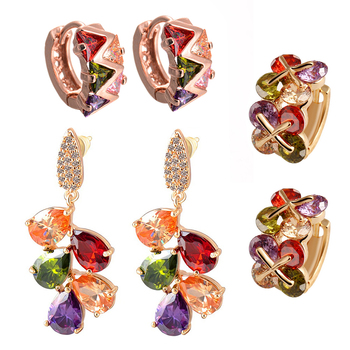 Multicolor cubic zirconia jewellery-combo