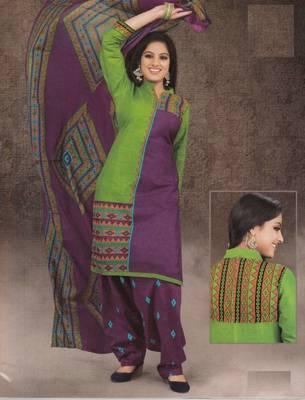 Dress material cotton designer prints unstitched salwar kameez suit d.no 1537