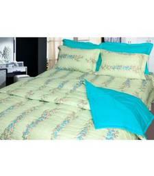 Buy Just Linen Green Printed Silkenised King AC Comforter bed-sheet online