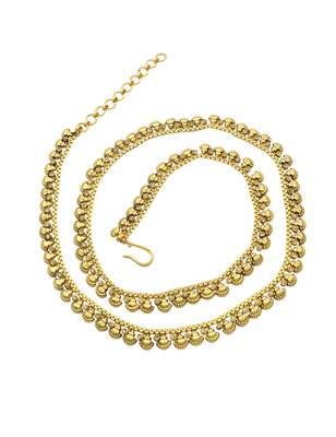 Golden Beige Polki Stones Waist Belt Kamar patta Jewellery for Women - Orniza