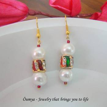 Traditional bling earrings