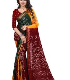 Buy Red plain jacquard saree with blouse jacquard-saree online