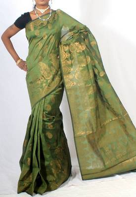 Georgette banarasi fancy zari saree