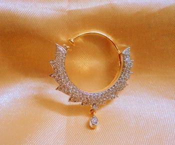 Royal American Diamond Spring Wedding Nose Ring