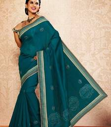 Buy Green Color Cotton Saree DCS107 cotton-saree online